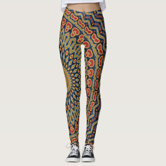 Kaleidoscope Mandala in Vienna: Pattern 220.6 Leggings