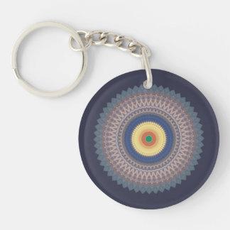 Kaleidoscope Mandala Keyring Double-Sided Round Acrylic Key Ring