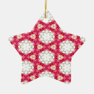 Kaleidoscope mosaic ceramic star decoration