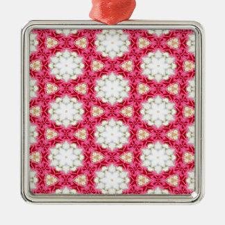 Kaleidoscope mosaic christmas ornament