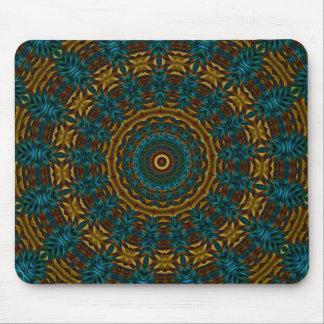 Kaleidoscope Mousepad Blue Tan Customize It