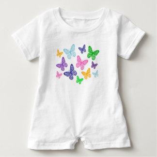 Kaleidoscope of Butterflies - Baby Romper Baby Bodysuit