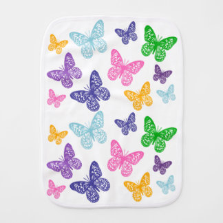 Kaleidoscope of Butterflies - Burp Cloth