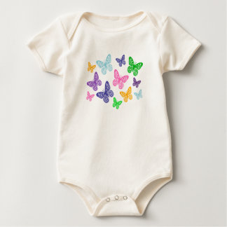 Kaleidoscope of Butterflies - Organic Bodysuit