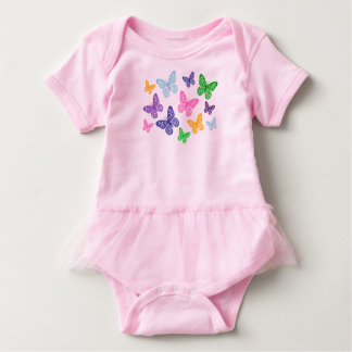 Kaleidoscope of Butterflies - Tutu Baby Bodysuit