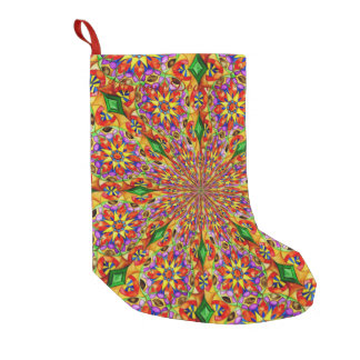 Kaleidoscope of Flowers Small Christmas Stocking