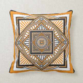 Kaleidoscope ORANGE Cushion