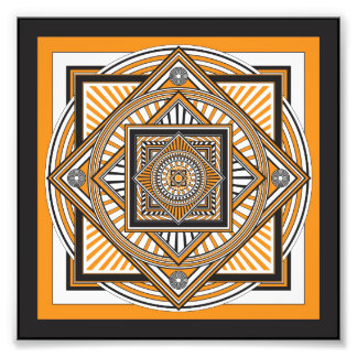 Kaleidoscope ORANGE Photo Print