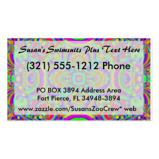 Kaleidoscope pattern neon graphic 1 pack of standard business cards