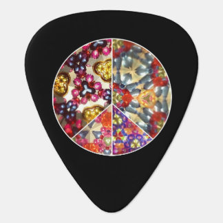 Kaleidoscope Peace Sign Guitar Picks
