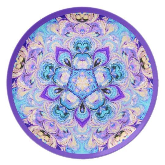 Kaleidoscope Plate Blue and Purple
