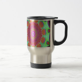 Kaleidoscope product designs by Carole Tomlinson Stainless Steel Travel Mug