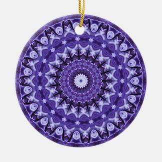 Kaleidoscope Purple Silk Ceramic Ornament