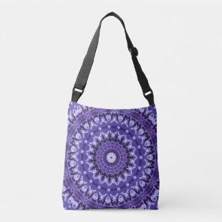 Kaleidoscope Purple Silk Cross Body Bag