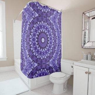 Kaleidoscope Purple Silk Shower Curtain