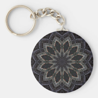 Kaleidoscope 'RK4 SQ' Basic Round Button Key Ring