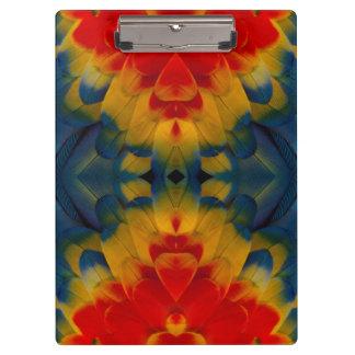 Kaleidoscope Scarlet Macaw design Clipboard