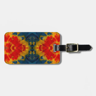 Kaleidoscope Scarlet Macaw design Luggage Tag