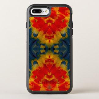 Kaleidoscope Scarlet Macaw design OtterBox Symmetry iPhone 7 Plus Case