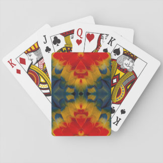 Kaleidoscope Scarlet Macaw design Playing Cards