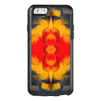 Kaleidoscope Scarlet Macaw feather OtterBox iPhone 6/6s Case