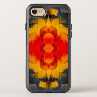 Kaleidoscope Scarlet Macaw feather OtterBox Symmetry iPhone 7 Case