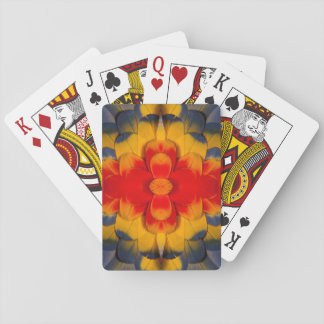 Kaleidoscope Scarlet Macaw feather Playing Cards