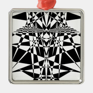 kaleidoscope Silver-Colored square decoration