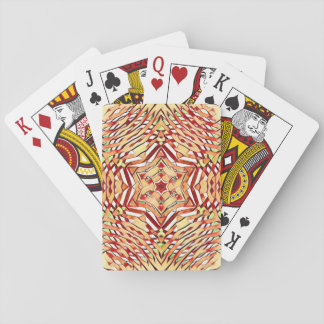 kaleidoscope snow playing cards