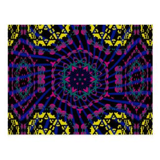 Kaleidoscope & Spiral: Abstract Artwork: Postcard