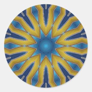 Kaleidoscope Star Classic Round Sticker