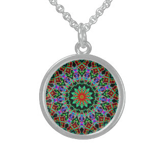 Kaleidoscope Sterling Silver Necklace