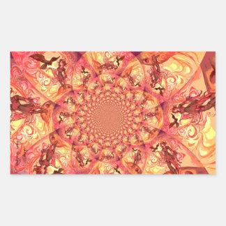 Kaleidoscope Sun Elf Rectangular Sticker
