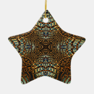 Kaleidoscope tiger fur pattern christmas ornament