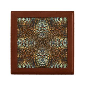 Kaleidoscope tiger fur pattern gift box