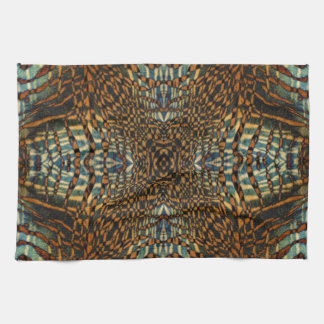 Kaleidoscope tiger fur pattern tea towel