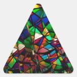 Kaleidoscope Triangle Sticker