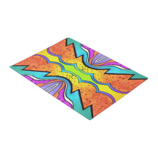 KALEIDOSCOPE WATERCOLOR DOORMAT