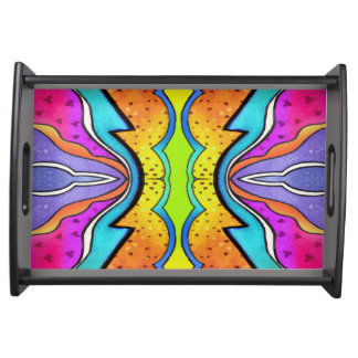 KALEIDOSCOPE WATERCOLOR SERVING TRAY