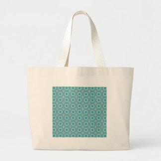 Kaleidoscope with shades of blue jumbo tote bag