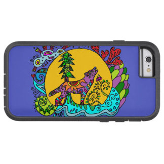 Kaleidoscope Wolf in Blue Tough Xtreme iPhone 6 Case