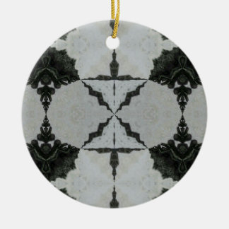 Kaleidoscope Wolf Spider, Black and Gray Christmas Ornament
