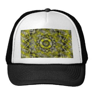 kaleidoscope yellow black trucker hats