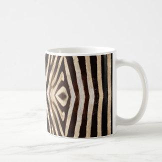 Kaleidoscope Zebra Fur Pattern Basic White Mug