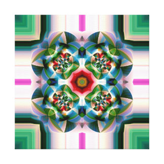 Kaleidoscopic Abstract Flower Canvas Print