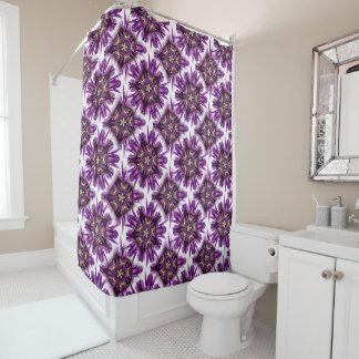 Kaleidoscopic Dutch Iris Purple Sensation Shower Curtain