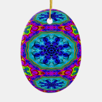 Kaleidoscopic Egg Ornament.2 Christmas Ornament