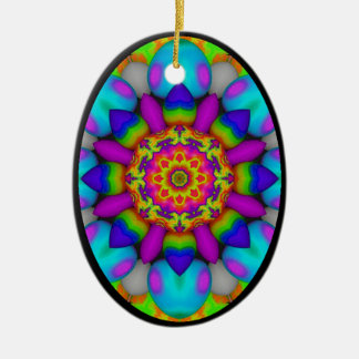 Kaleidoscopic Egg Ornament.3 Christmas Ornament