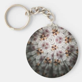 Kaleidoscopic Key Chain Basic Round Button Keychain