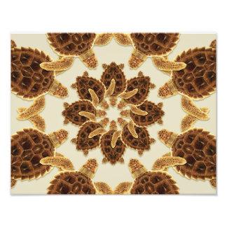 Kaleidoscopic Loggerhead Sea Turtle Print Photo Art